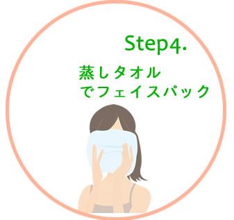 step4.蒸しタオルでフェイスパック